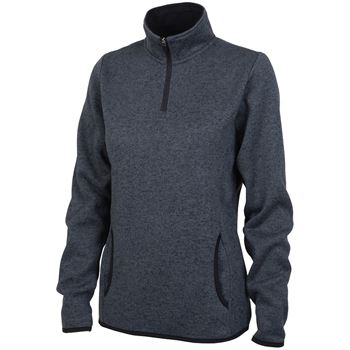 Women's Heathered Fleece Pullover - Embroidery Personalization Available