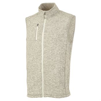 Men's Heathered Fleece Vest - Embroidery Personalization Available