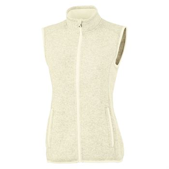 Women's Heathered Fleece Vest - Embroidery Personalization Available