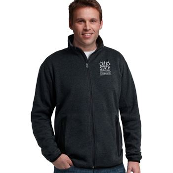 Charles River Apparel® Men's Heathered Fleece Jacket - Embroidery Personalization Available