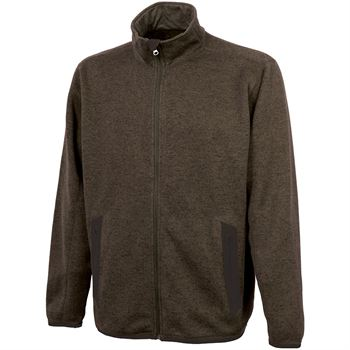 Men's Heathered Fleece Jacket - Embroidery Personalization Available