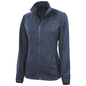 Women's Heathered Fleece Jacket - Embroidery Personalization Available