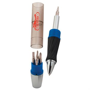3-In-1 Tool Pen with Screwdrivers and Light - Personalization Available