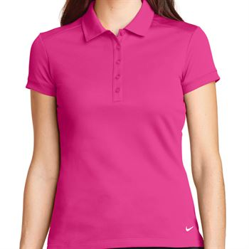 Nike® Golf Ladies Dri-Fit Solid Icon Pique Modern Fit Polo - Personalization Available