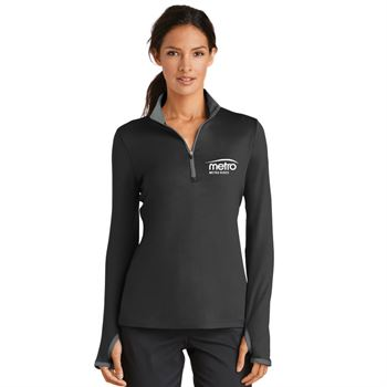 Nike® Golf Ladies Dri-FIT Stretch 1/2-Zip Cover-Up - Personalization Available