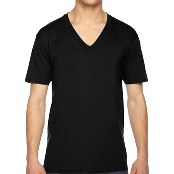 American Apparel® Unisex Fine Jersey Short-Sleeve V-Neck - Personalization Available
