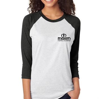 Next Level® Unisex Tri-Blend 3/4-Sleeve Raglan Baseball Shirt - Personalization Available