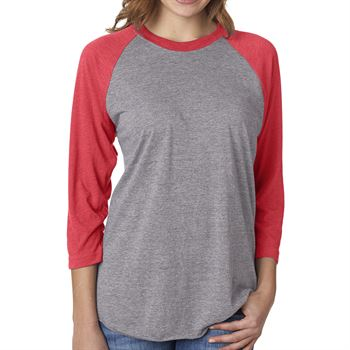 Next Level Unisex Triblend 3/4-Sleeve Ragian Tee