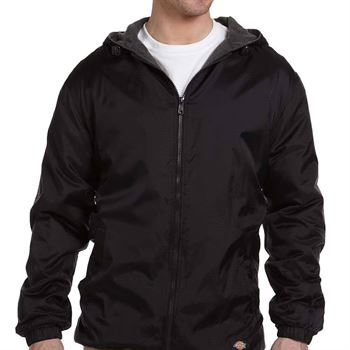 Dickies Fleece-Lined Hooded Nylon Jacket - Personalization Available