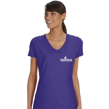 Fruit of the Loom® Ladies' 5-oz., 100% Heavy Cotton HD® V-Neck T-Shirt - Personalization Available