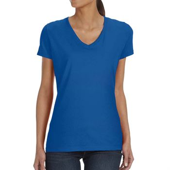 Fruit of the Loom Ladies' 5-oz., 100% Heavy Cotton HD® V-Neck T-Shirt - Personalization Available