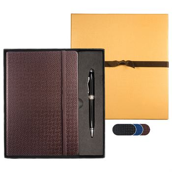 Textured Tuscany™ Journal & Executive Stylus Pen Set - Personalization Available