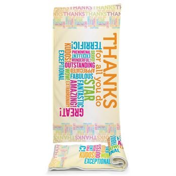 Thanks For All You Do Velour Beach Towel