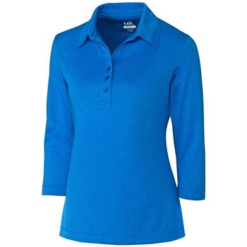 Cutter & Buck® Women's Drytec 3/4 Sleeve Chelan Polo - Personalization Available
