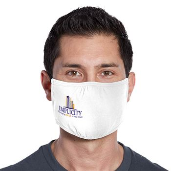 3-Ply District V.I.T. Shaped Adult Face Mask - Full Color Personalization Available