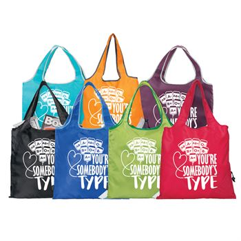 You're Somebody's Type Foldaway Shopper Tote - Personalization Available