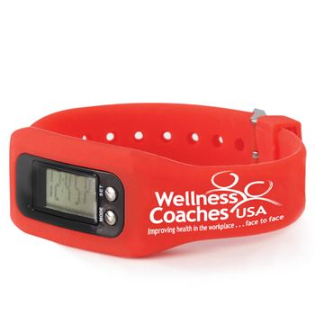 Fitness Watch Pedometer (Red) - Personalization Available