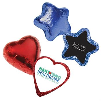 Chocolate Hearts Or Stars - Personalization Available