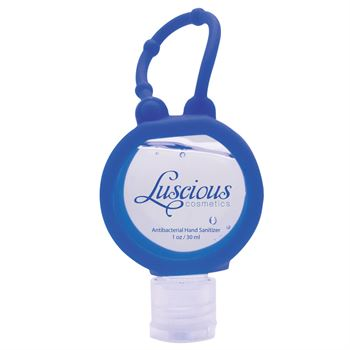 Round Travel Antibacterial Sanitizer - Personalization Available