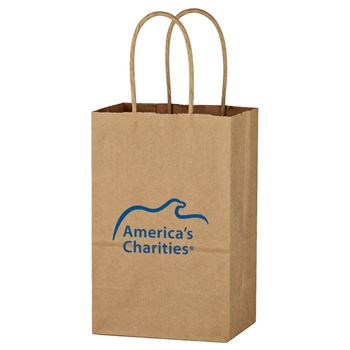 Kraft Paper Brown Shopping Bag - Personalization Available