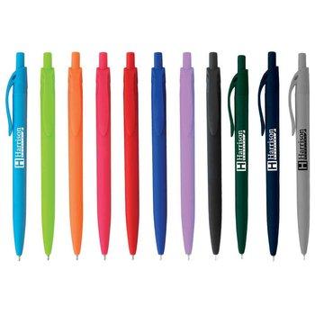 Sleek Write Rubberized Pen - Personalization Available