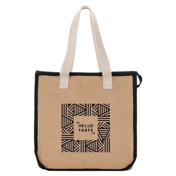 Jute Insulated Grocery Tote Bag - Personalization Available