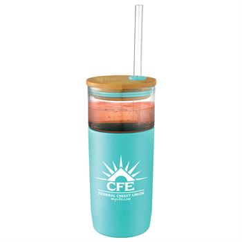 Poppi Glass Tumbler 20-Oz. With Straw - Personalization Available