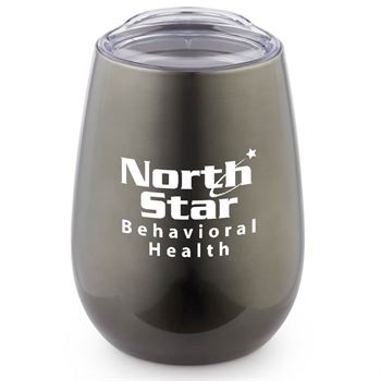 Stainless Steel Stemless Wine Glass 10-oz. - Personalization Available