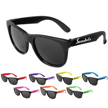 Neon Sunglasses - Black Frame - Personalization Available