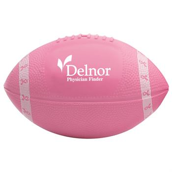 Mini Pink Ribbon Vinyl Football - Personalization Available