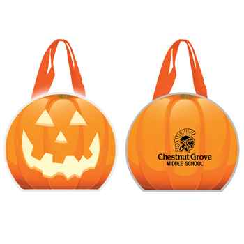 Reflective Halloween Pumpkin Non-Woven Tote Bag - Personalized