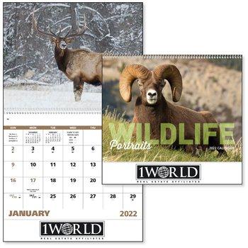 Wildlife Portraits 2021 Calendar - Spiral - Add Your Personalization