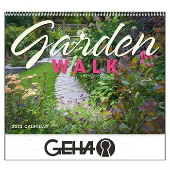 Garden Walk 2021 Wall Calendar - Spiral - Personalization Available