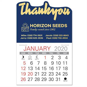 2020 Value Stick-Up Thank You Calendar - Personalization Available