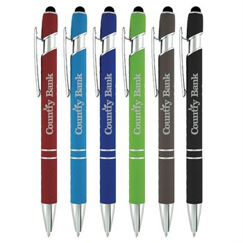Coronado II Stylus Metal Pen Soft Touch Barrel - Personalization Available