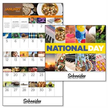 National Day 2020 Calendar - Stapled - Personalization Available