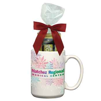 Full Color Mug With Four Assorted Tea Bags - 15-Oz. - Personalization Available