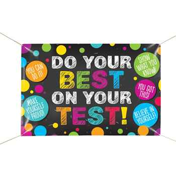 Do Your Best On The Test! 5' x 3' Vinyl Banner