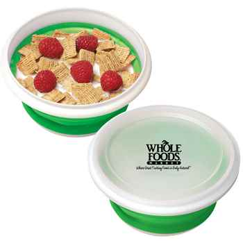 Collapsible Silicone Storage Bowl - Personalization Available