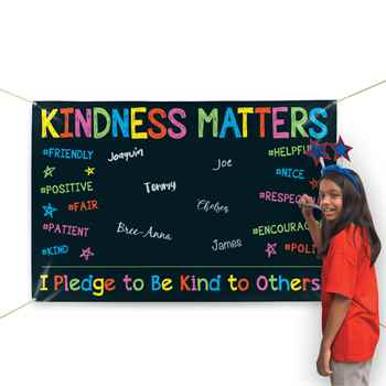 Kindness Matters 5' x 3' Vinyl Pledge Banner