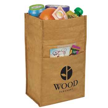 Brown Paper Bag 6-Can Lunch Cooler - Personalization Available