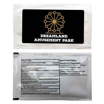 Individual Antibacterial Wipes - Personalization Available