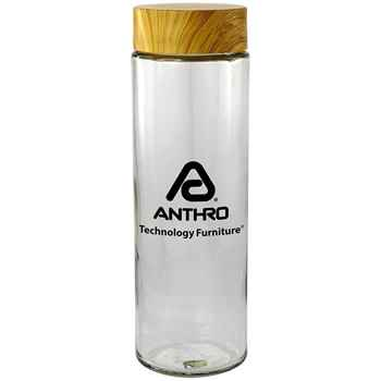 Bamboo Glass Bottle 22-Oz. - Personalization Available