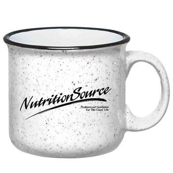 White Campfire Ceramic Mug 15-Oz. - Personalization Available