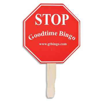 Stop Sign Shaped Hand Fan