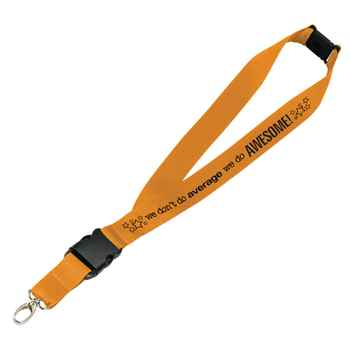 We Don't Do Average, We Do Awesome! Hang In There Lanyard with Personalization