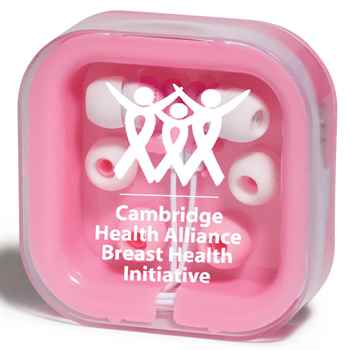Brightly Colored Awareness Earbuds - Personalization Available