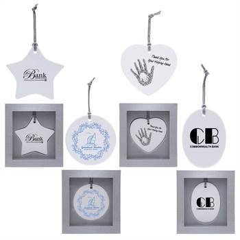 Ceramic Ornament - One-Color Personalization Available