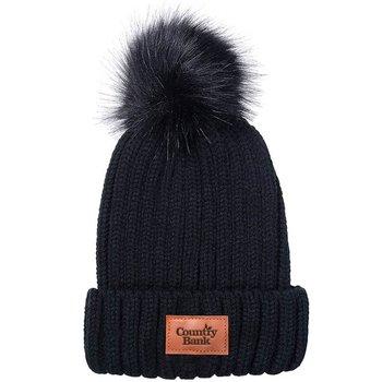 Leeman™ Knit Beanie with Fur Pom Pom - Personalization Available