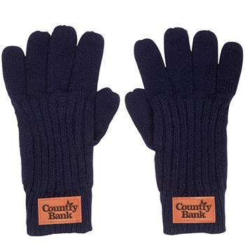 Leeman™ Rib Knit Gloves - Debossed Personalization Available
